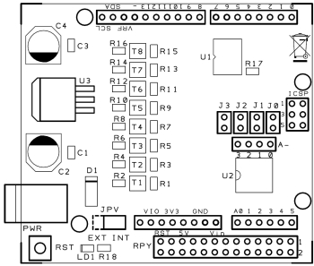 Expansion Shield for RaspberryPi compatible with Arduino | Open