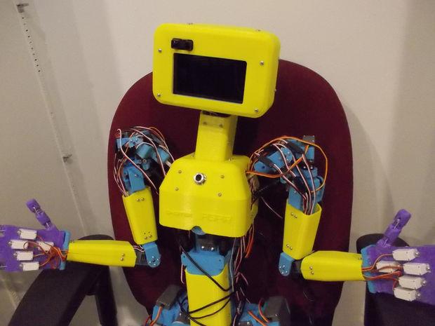 DIY a Full-Size 3D Printed Humanoid Robot   Open Electronics