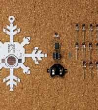 Shimmering Snowflake PCB Ornament
