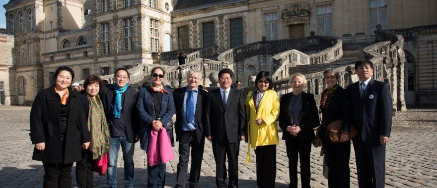 Visite du château de Fontainebleau organisée par Cap Cultures dans le cadre de la visite officielle et d'un échange culturel entre les villes de Chengde et Fontainebleau, octobre 2014.
