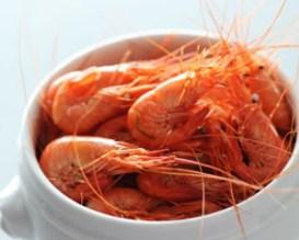 Recette de cuisine : cuisson des crevettes roses (bouquets)