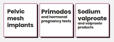 Primodos, Sodium valproate and Pelvic mesh implants banner