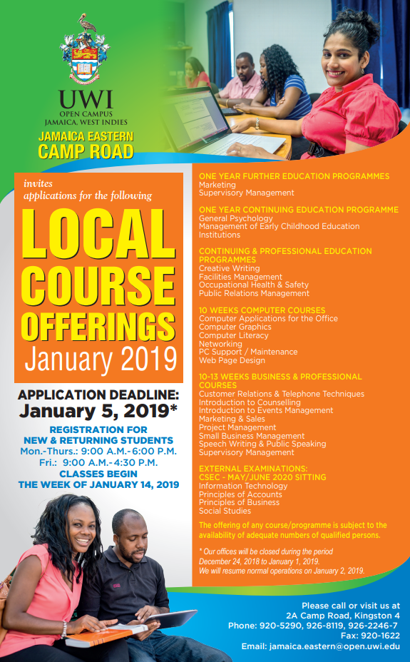 Uwi Open Campus Short Courses