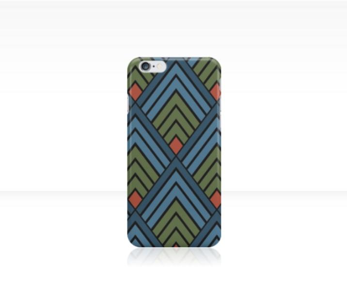 mountains of diamonds phone case