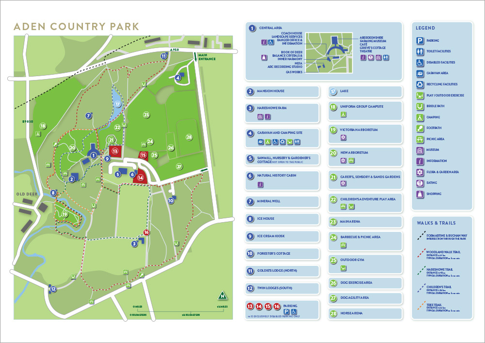 Aden Country Park map