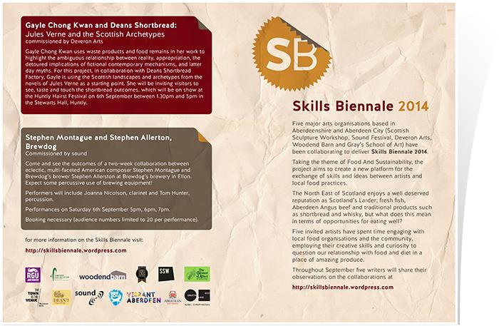 Information leaflet front and back