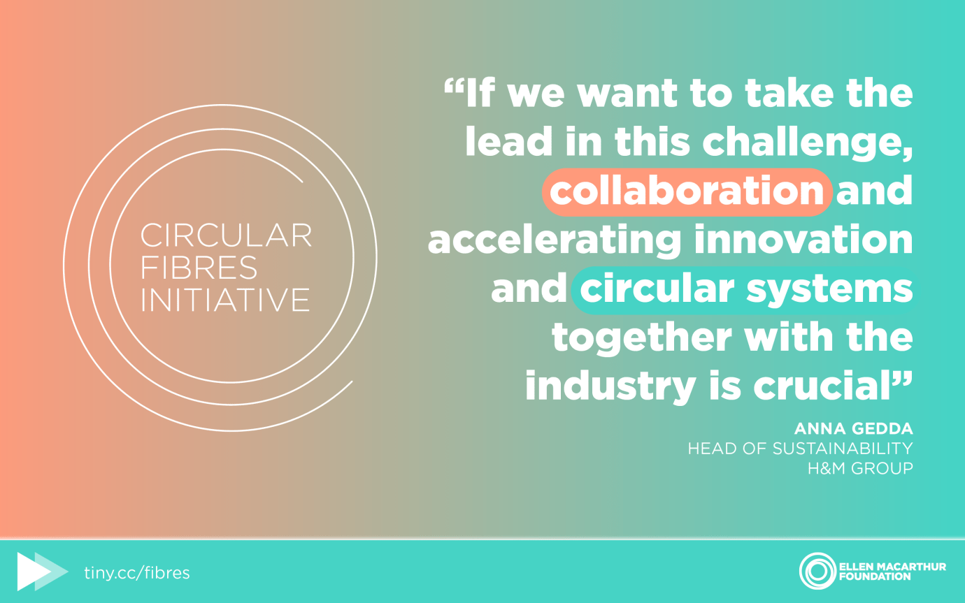 New Circular Fibres Initiative brings industry together to build a circular economy for textiles
