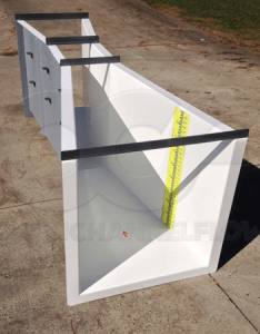 Fiberglass inch parshall flume with staff gauge also flumes rh openchannelflow