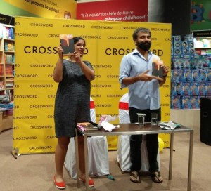 Figure 1: Nisha Susan and Prayaag Akbar at the Leila launch