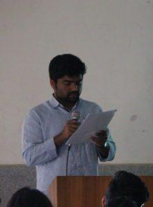 Praveen Kumar reading his story - ನೆನಿಸ್ಗೆಂಡು ನೆನಿಸ್ಗೆಂಡು