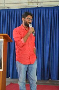 Jignesh Mevani at St. Aloysius College, Bangalore Picture Credits: Ancel Blaise