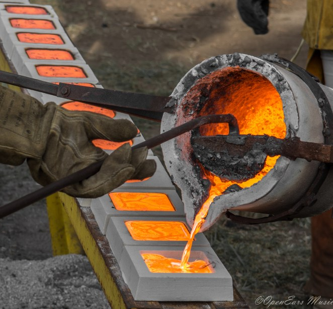 Iron pouring at Sloss Fest. Photo By Jamie Platus