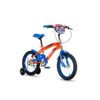 Bicicleta Niño Topmega Cross Naranja y Azul Rodado 16