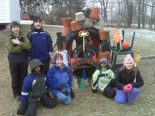 Collaborative Sculpture at Open Fields School