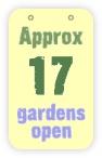 approx 17 gardens open