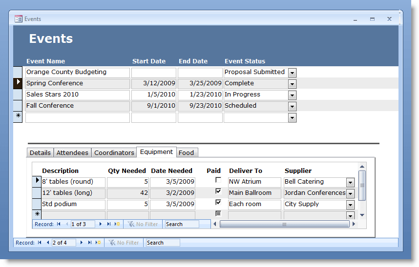ms access 2003 templates