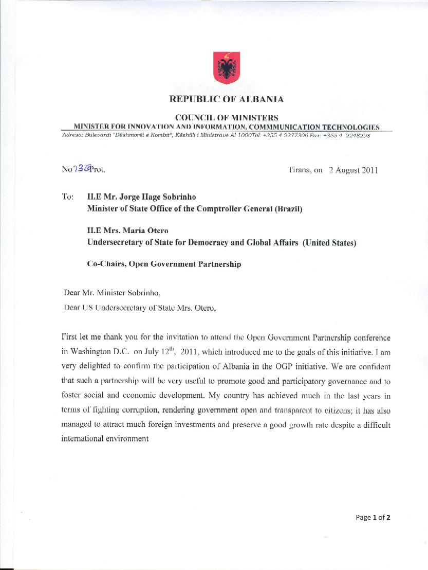 Albania Open Government Partnership