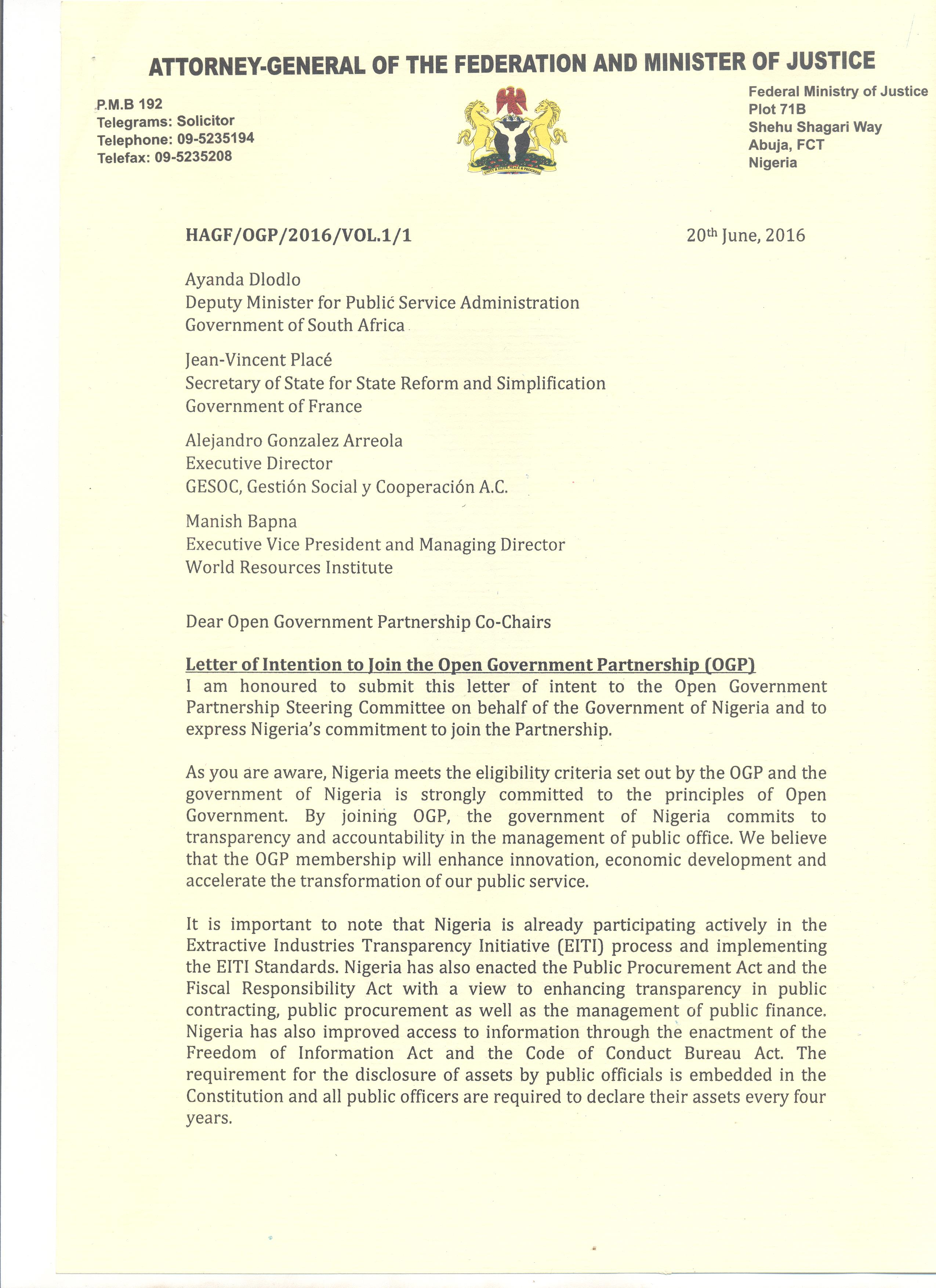 Nigeria Open Government Partnership