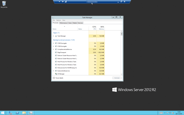 Bureau distant remoteapp windows 2012 r2 Server