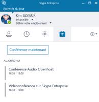 Conférences audio Skype Entreprise Online Office 365 Entreprise