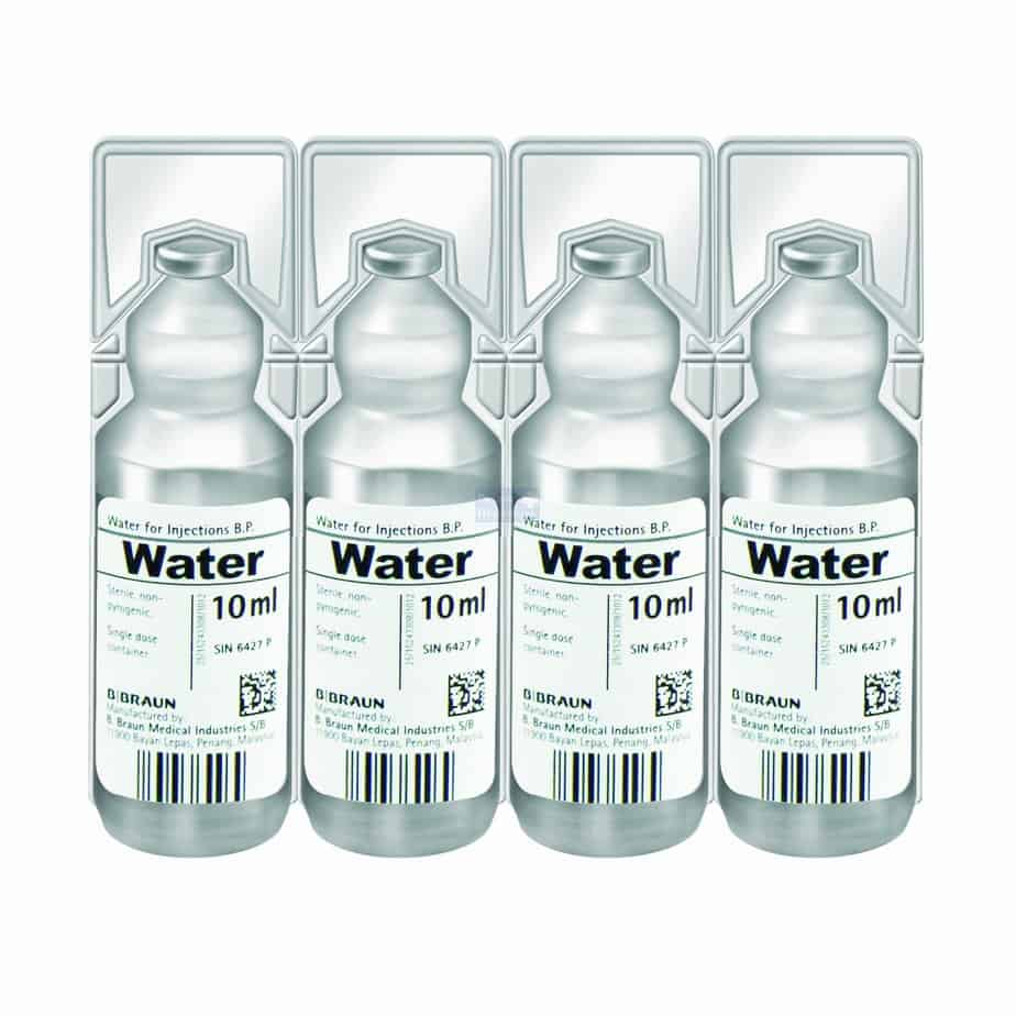 Water for Injection. 20 x 10ml - Openhouse Products