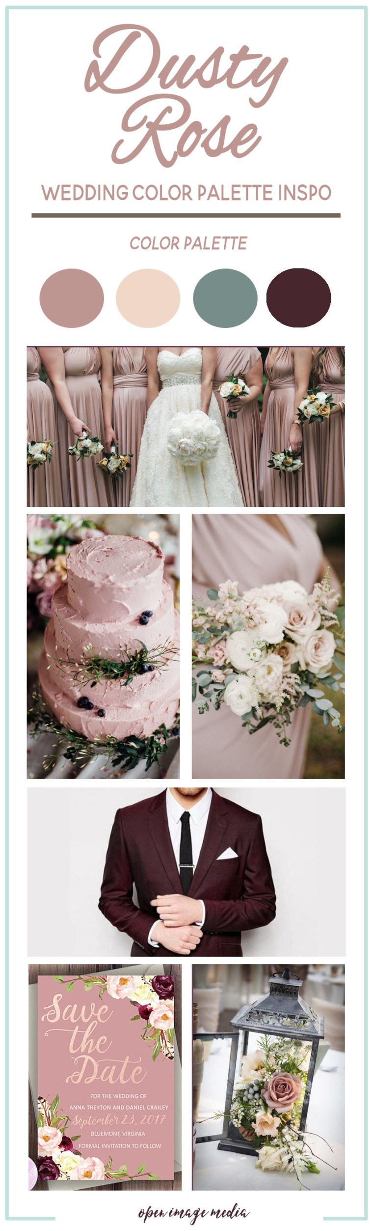 Dusty rose wedding color palette inspiration open image media dusty rose wedding color palette inspiration junglespirit Gallery