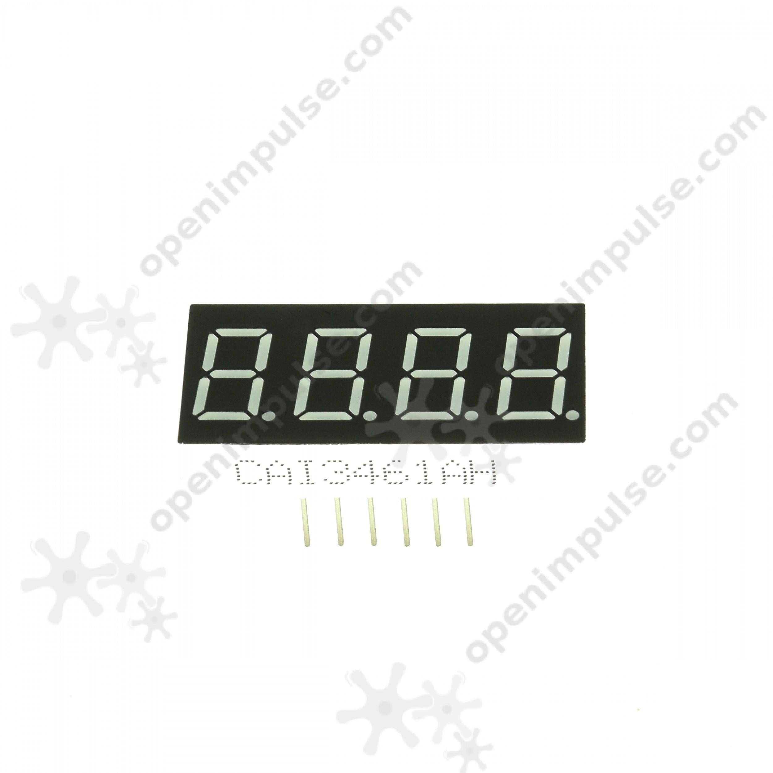 5pcs Digital 0 36 7 Segment Led Display With 4 Digits