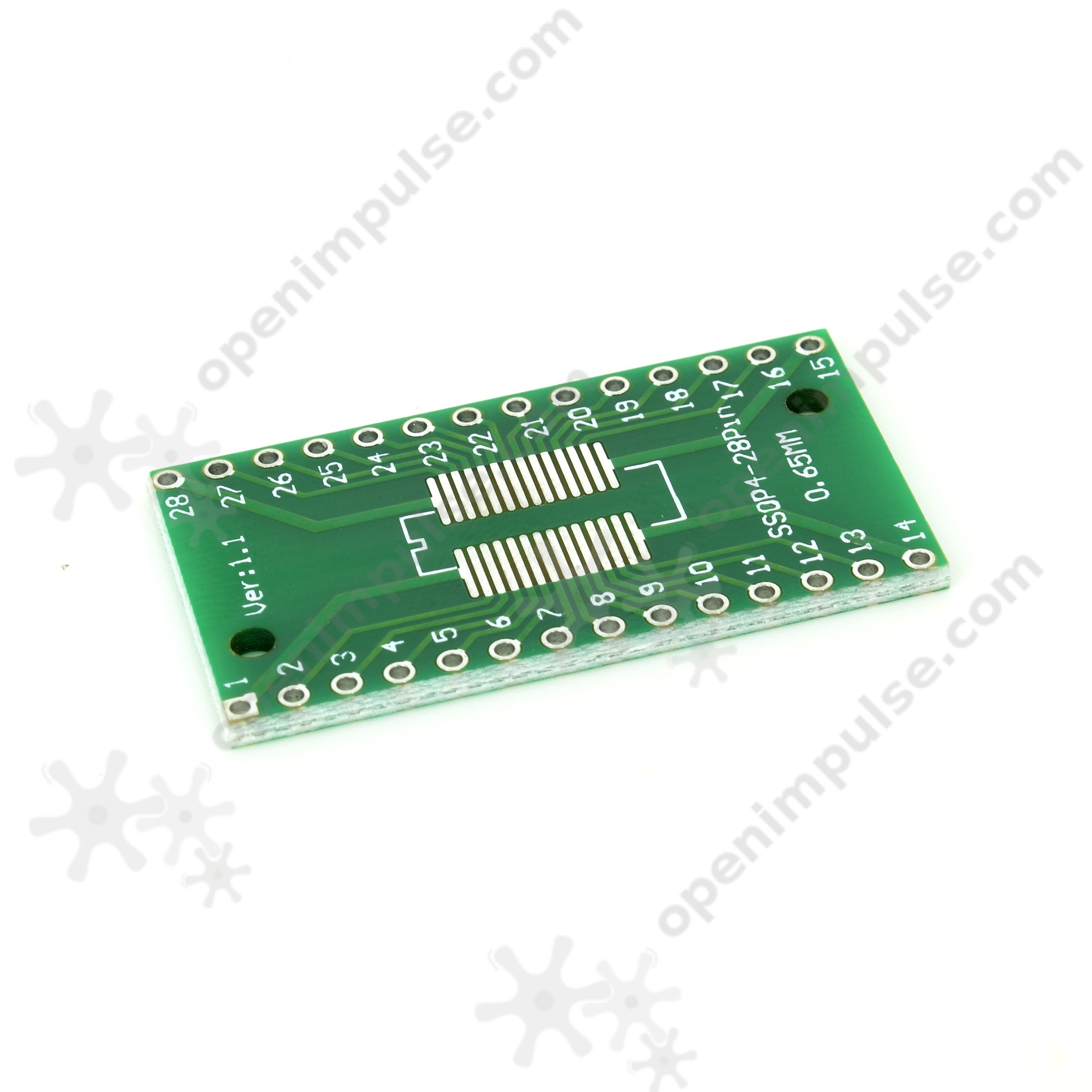 2pcs SOP28 SSOP28 and TSSOP28 to DIP PCB Adapter  Open