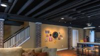 Open ceiling design for the basement - make sure it's fire ...