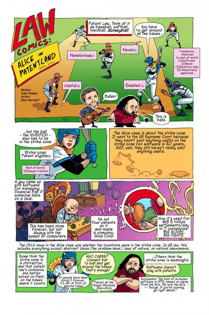 Visual Law - Law Comics - Alice in Patentland 1