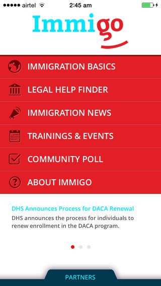 Resource sharing - Immigo - Immigration Advocates Resouce Sharing app 1