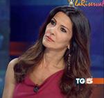 """""""Studio Aperto"""" anchorwoman Elena Guarnieri."""