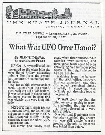 Hanoi UFO press clip