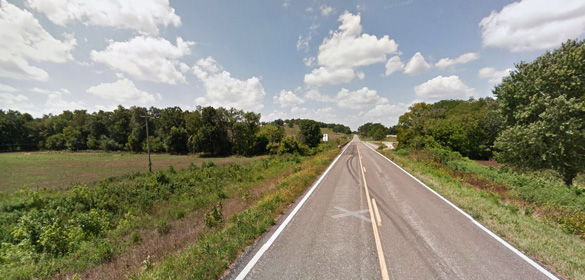 Wright County, MO, was the scene of an animal mutilation on July 15, 2015, according to Case 58460. Pictured: Wright County, MO. (Credit: Google)