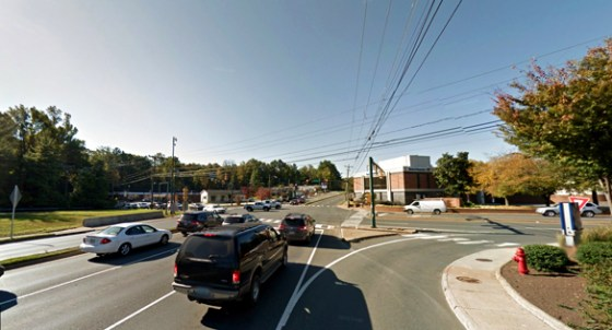 The witness was driving along Route 29 north near the Kroger and K-Mart stores, pictured. (Credit: Google)
