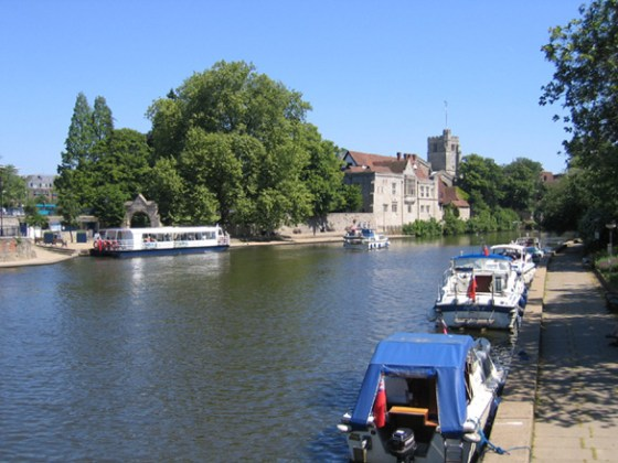 River Medway, Maidstone. (Credit: Wikimedia Commons)