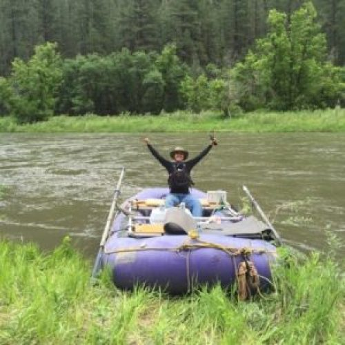 Young adult therapist Mariah Loftin enjoys rafting in her time off