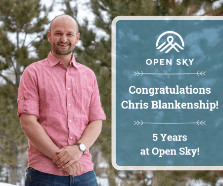 Chris Blankenship Celebrates 5 Years at Open Sky