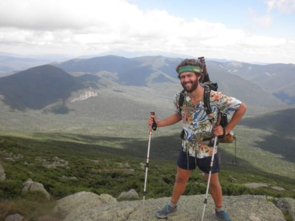 Nick Lenderking-Brill thru-hiking the Appalachian Trail.
