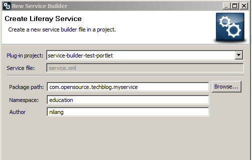 Creating Service layer by Service Builder in Liferay - Add-Service-builder-detail