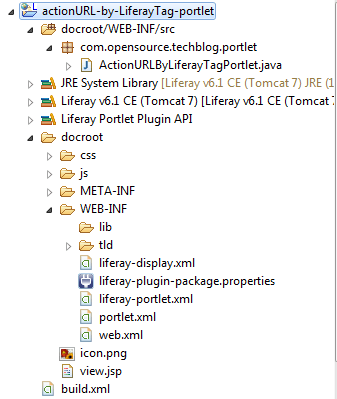 liferay-portlet:actionURL - Project-structure