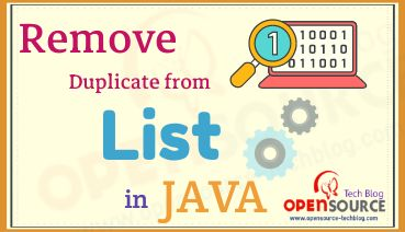 Remove duplicate from a list in Java