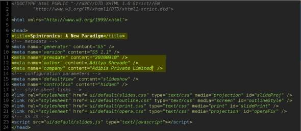 Adding title and metadata