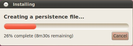 Setup creating a persistence file...