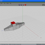 Top face extruded once