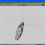 Second edge loop scaled in X axis to shape the front part