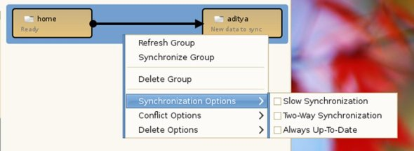 Synchronisation options