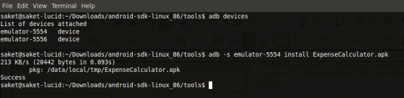 adb command with serial parameter