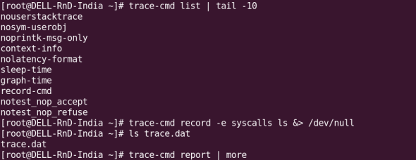 Using trace-cmd for recording and reporting