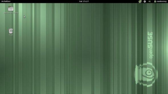 GNOME 3 desktop after system startup